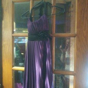 Purple black semi formal dress medium